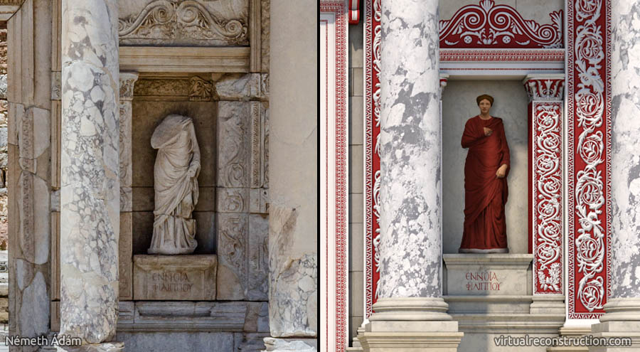 Ephesus_Celsus_Library_statues